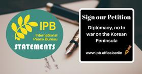 "Endorse the ""Diplomacy, no to war on the Korean Peninsula"" Statement"