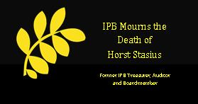 IPB mourns the death of Horst Stasius