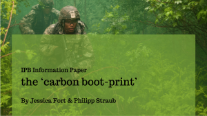 IPB Information Paper – 'the carbon boot-print'