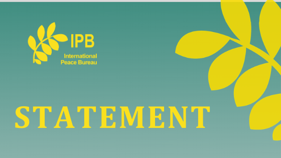 IPB Statement: Reaction to the Newest SIPRI Figures
