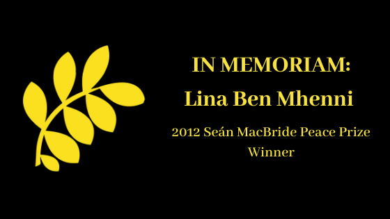 IPB Mourns the Death of Lina Ben Mhenni