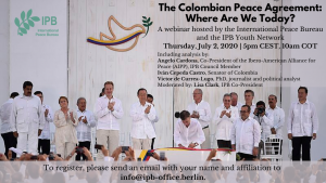 Webinar: The Colombian Peace Agreement: Where Are We Today?