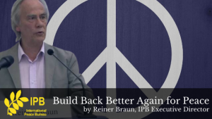 Build Back Better Again for Peace