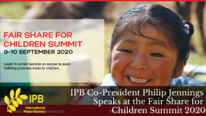 IPB Co-President Speaks at the Fair Share for Children Summit 2020