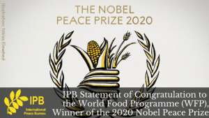 IPB Statement of Congratulations to the World Food Programme