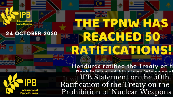 IPB Statement on the 50th TPNW Ratification
