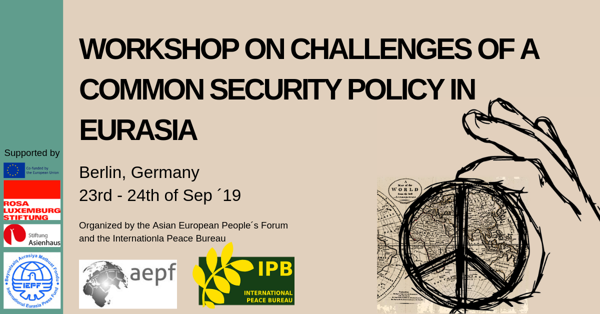 "Register for the Workshop on ""Challenges of a Common Security Policy in Eurasia"""