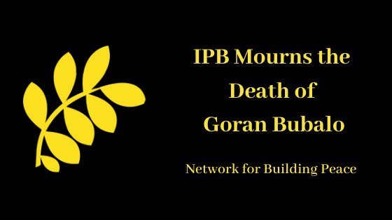 IPB Mourns the Death of Goran Bubalo