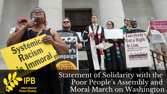 Statement of Solidarity with the Poor People's Assembly and Moral March on Washington