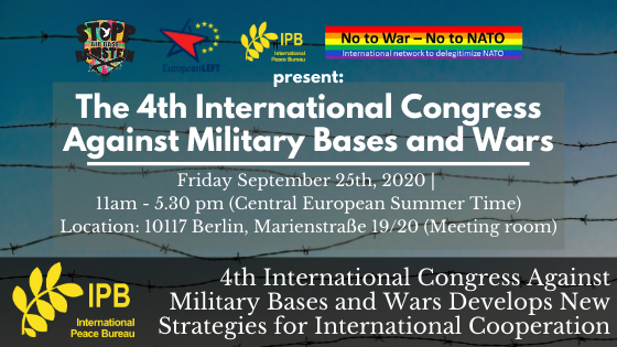 4th International Congress against Military Bases and Wars Develops New Strategies for International Cooperation