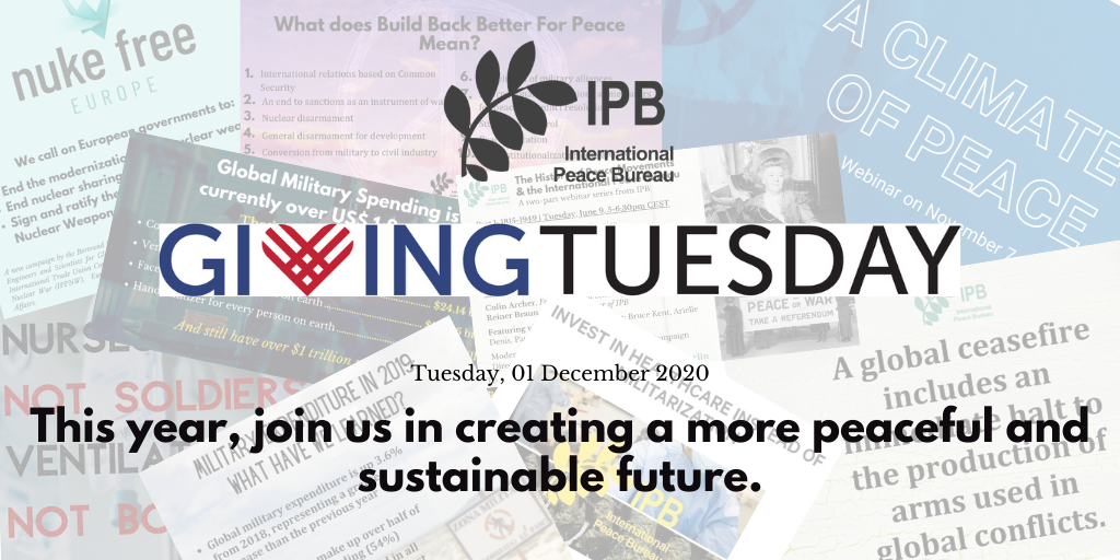 Join us on #GivingTuesday for Peace and Justice