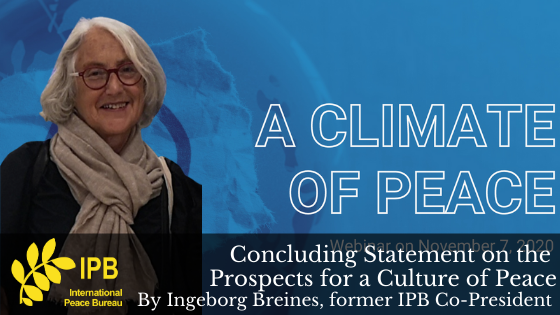 Concluding Statement on the Prospects for a Culture of Peace