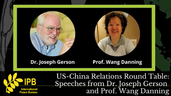 Speeches from US-China Round Table