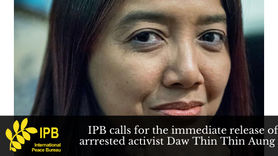 IPB Calls for the Immediate Release of Arrested Activist Daw Thin Thin Aung